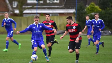 Ipswich U21 v QPR. Shane McLoughlin in action for the U21's.