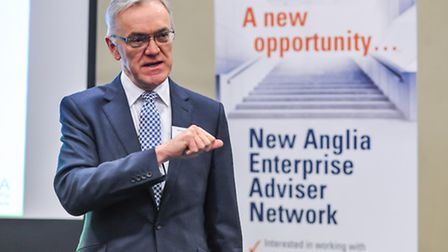Mark Pendlington speaking at the launch of the New Anglia Enterprise Adviser Network at Thetford Aca