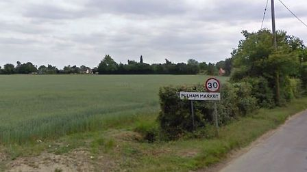 Land off Colegate End Road in Pulham Market where plans for new homes have been refused. Picture: Go
