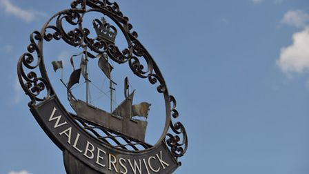 The village sign for Walberswick