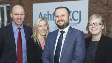 Colin Makin with colleagues from Ashton KCJ's employment team.