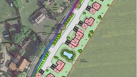 Proposed new homes for land off Colegate End Road in Pulham Market. Picture: Durrants Building Consu