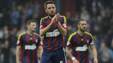 Cole Skuse, pictured wearing Ipswich Town's 'Barcelona' away kit on its one and only outing, away at