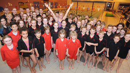Olympic swimmer Jemma Lowe as guest coach at Newmarket and District Swimming Club for a session.