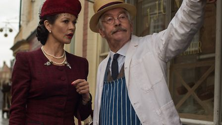The cast of the new Dad's Army film starring Tom Courteney and Catherine Zeta Jones