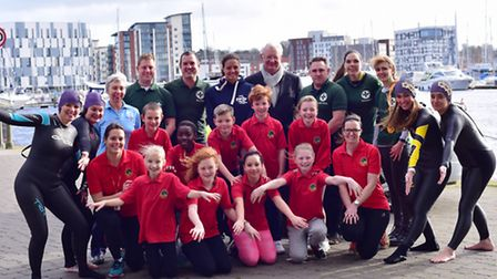 Launch of the great East Swim 2016.
