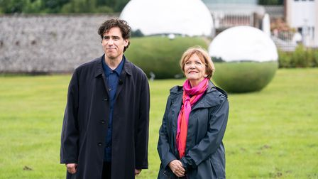Stephen Mangan and Joan Bakewell who present Sky Arts programme Landscape Artist of the Year. Pictur