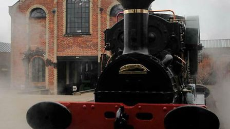 Sirapite runs on the track at the Long Shop Museum in Leiston after six years of restoration by Trev