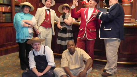 The cast of Suzanne Hawkes's new Harry's Bar episode Down the Mississippi, which is being performed