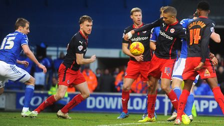 Ipswich v Reading Calls for hand-ball late in the game.