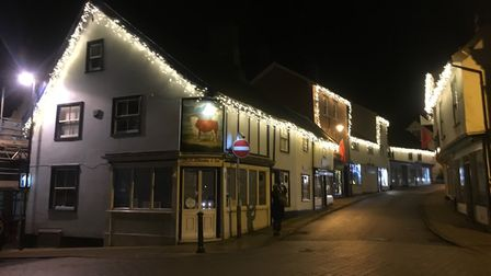 Scenes around Diss as the Christmas Lights were officially switched on in 2019. Photo: Emily Thomson