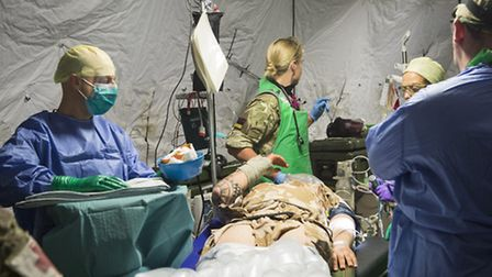 Airborne medics from Colchester-based 19 Medical Squadron, 16 Medical Regiment take part in a traini