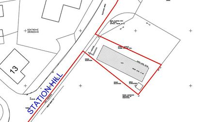 Plans show the Harleston Army Cadet building on Station Hill would be surrounded by the new planned