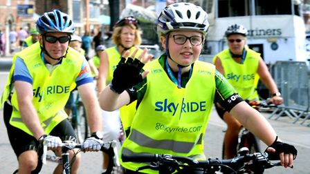 The annual Ipswich Sky Ride weaving through the town last year with all ages taking part.