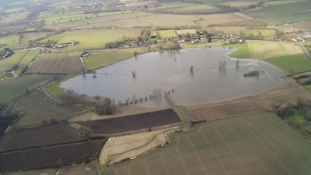 Aerial photography of Dickleburgh Moor. Plans for an eco house nearby have been refused. Picture: So
