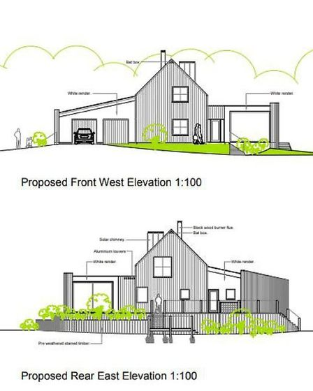 The proposed eco house on Norwich Road in Dickleburgh would have feature energy saving measures and