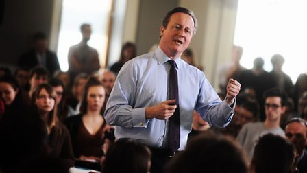 David Cameron speaks to students from UCS and surrounding schools about the European referendum. UCS