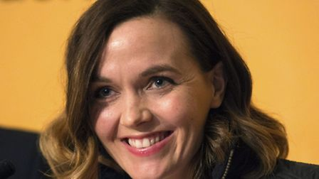 Victoria Pendleton during the press conference at the Royal Horseguards Hotel, London. PRESS ASSOCIA