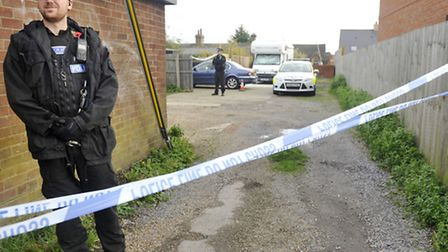 Essex Police cordon off the area around Hythe Hill in Colchester where a man was stabbed in November