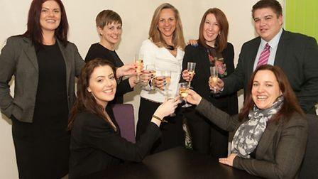 The team at Compass Point Recruitment celebrate the firm's 21st anniversary.