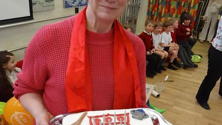 Maureen Chapman who retired as a cook from Sir Robert Hitchams Primary School last week after 25 yea