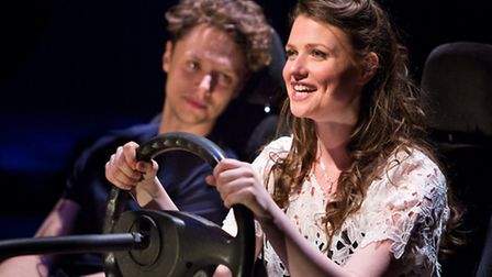 Katie Birtill as Cathy and Chris Cowley as Jamie in Jason Robert Brown's The Last Five Years at The