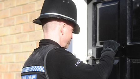 Police search and appeal after burglary. Library image.