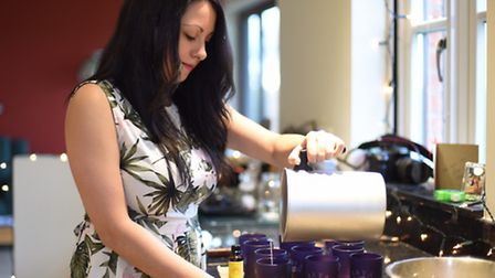 Mother and daughter team ,Lina and Jenny Hogg, creators of Arya candles.