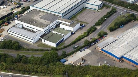 Freebournes Road, Witham - the road rounds around an industrial estate and a stretch of it is para
