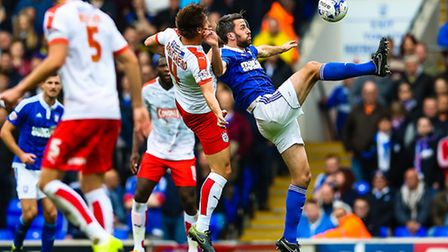 Cole Skuse is set to return for Ipswich Town this weekend