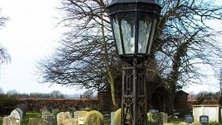 Two wrought iron Victorian lampstands stolen in Great Barton
