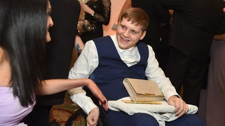 Former Diss High School pupil Sam James was paralysised in all four limbs in a swimming pool acciden