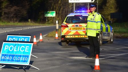 Recovery services at the scene of a road traffic collision near Southwold.PHOTO: Nick Butcher