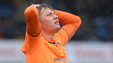 Frankie Kent, looking disappointed after the 5-2 defeat at Bury last Saturday week.