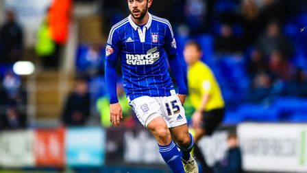 Tommy Oar in action during the Ipswich Town V Portsmouth (Emirates FA Cup Third Round) match at Port