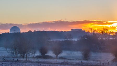 Sizewell sunrise on a frosty morning. Image: Charlie Mann