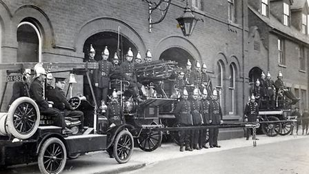Ipswich Fire Station 1916/17 - photo courtesy of Suffolk Fire and Rescue Service