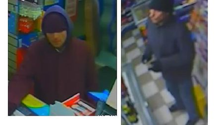 Police would like to identify these two men in connection with a robbery that took place in Little C