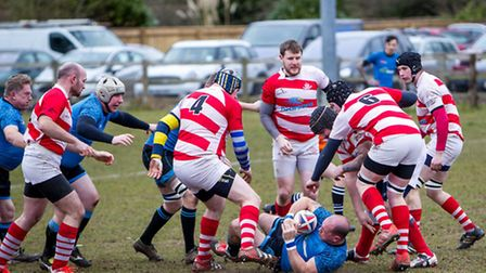 Nick Woodley in the thick of it for Woodbridge
