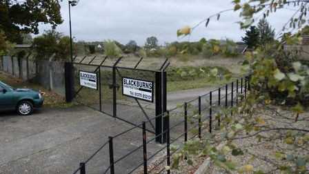 Land where 40 new homes could be built off Station Hill was last used as a builders yard and store.