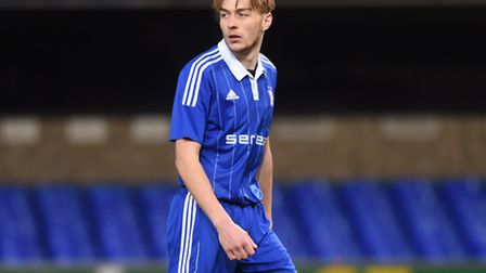 Keiran Morphew in action for Ipswich Town's Under-21 side on Tuesday night.