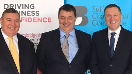 John Bridge, chief executive of Cambridgeshire Chambers of Commerce, James Waters, leader of Forest