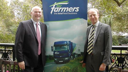 Iain Gardner, chief operating officer of ForFarmers, and Yoram Knoop, its chief executive.