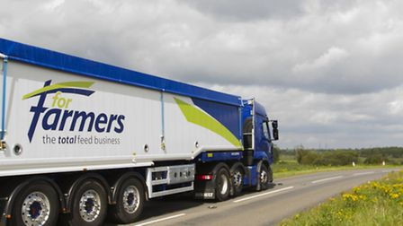 A ForFarmers-branded vehicle.