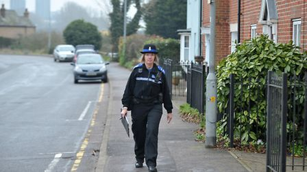 File picture of an Essex PCSO on patrol.