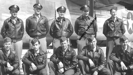 Crew of the Baby Doll bomber based at Debach Airfield