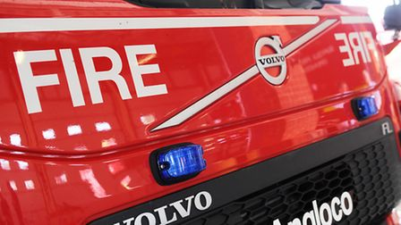 Firefighters rescued two people from a house fire in Felixstowe