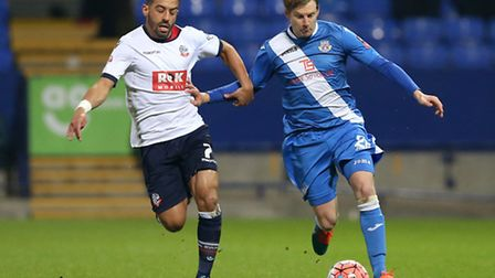 Liam Feeney, left, is joining Ipswich Town from Bolton. He's pictured with former Blue Dan Harding,