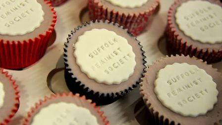 Cupcakes made for the launch of Suffolk Feminist Society.