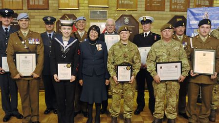received an award at the Lord Lieutenant's Awards from Lady Euston.